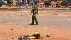 Répression barbare à Conakry