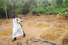 cimetiere de victimes d'Ebola
